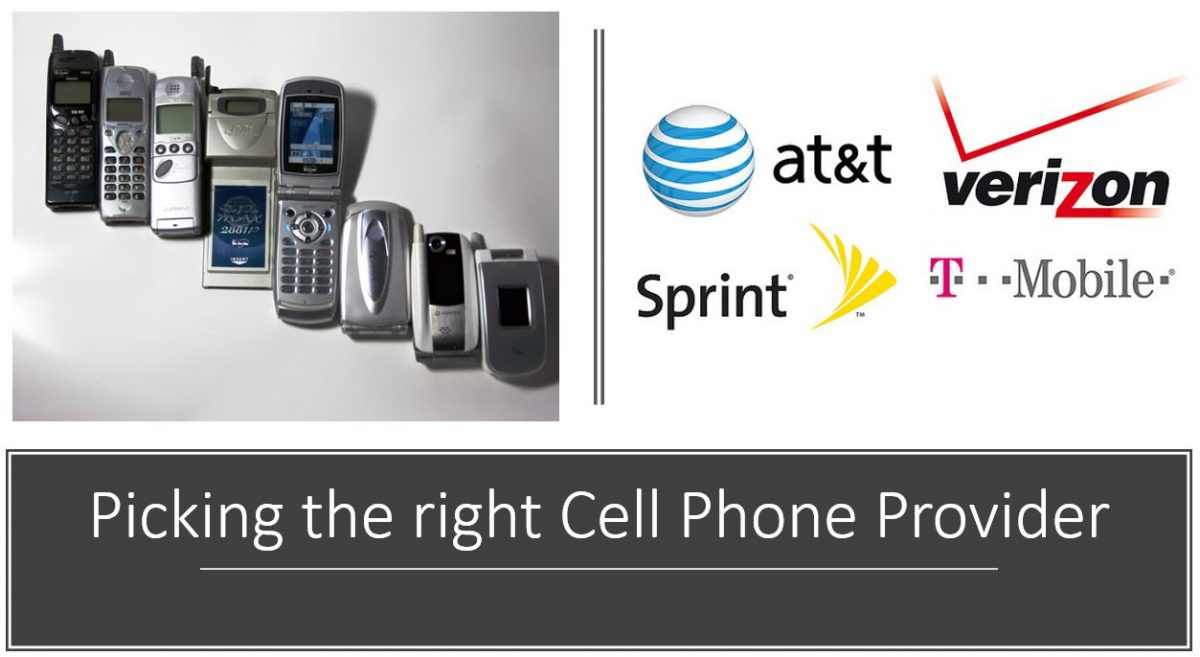 Picking the right Cell Phone Provider